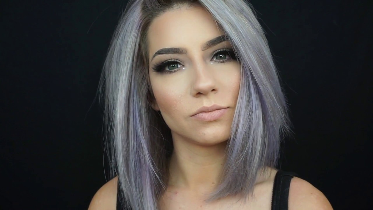 How I Colour My Hair At Home Pastel Periwinkle Youtube