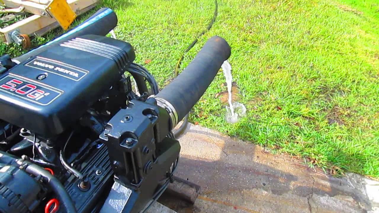 volvo penta 5 0 fuel injected marine engine - YouTube
