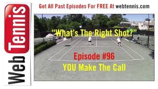 Tennis Doubles Strategy - Whats The Right Shot? #96. YOU Make The Call!