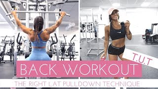 STRONGER AND BIGGER BACK WITH TUT METHOD + CORRECT TECHNIQUE   Follow Me To The Gym