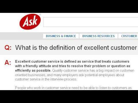 how would you define excellent customer service - Ozilalmanoof - how do you define excellent customer service