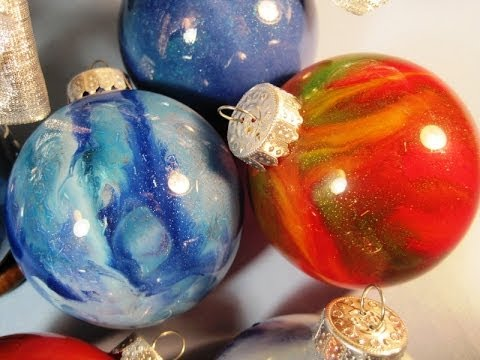 Christmas Bulbs.Melted Crayons In Glass Christmas Bulbs Featuring Miriam Joy
