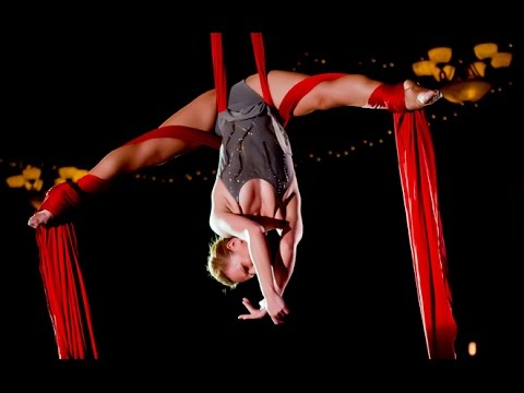 Contortion in Silks and TV Show interview, Maria Margiyeva