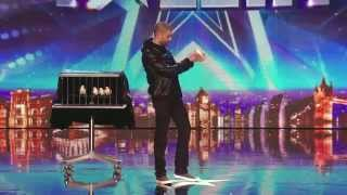 Darcy Oake Audition jaw-dropping dove illusions Britain's Got Talent 2014