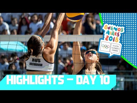Gold Medals matches are decided in Futsal & Beach Volleyball!  | YOG 2018 Day 10 | Top Moments