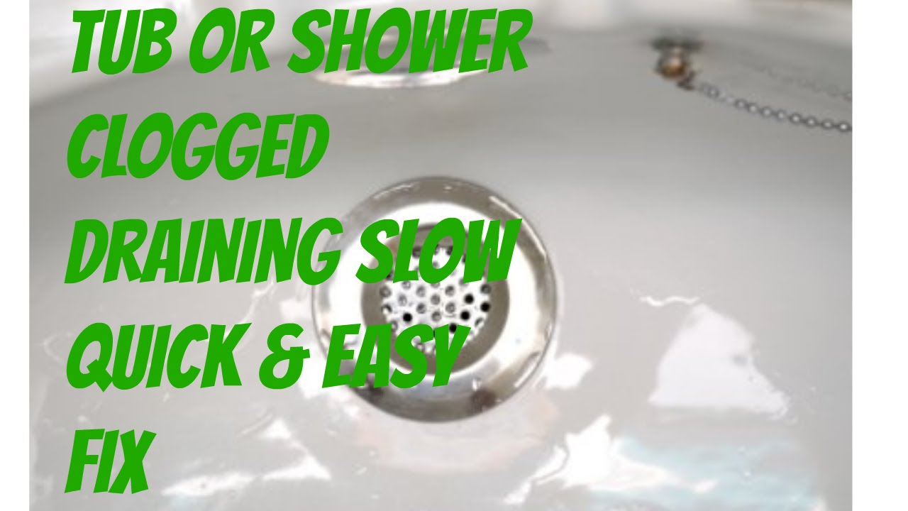 Bathroom Tub Shower Clogged With Hair Slow Drain Easy Fix