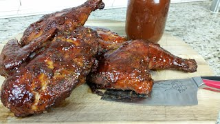 Smoked Bbq Chicken Recipe With A Simple To Make Bbq Sauce