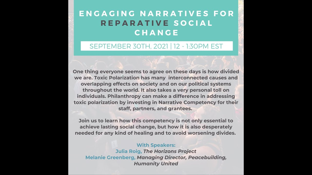 Engaging Narratives for Reparative Social Change Event
