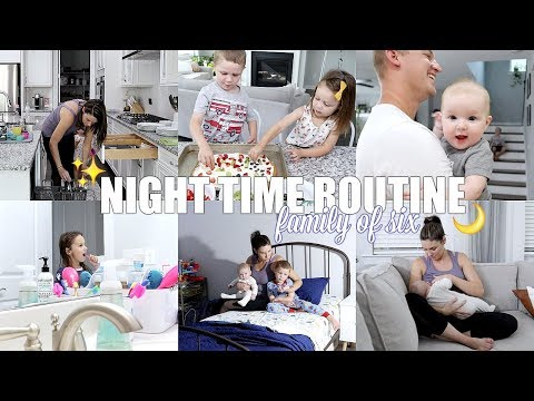 OUR FAMILY NIGHT TIME ROUTINE | FAMILY OF 6
