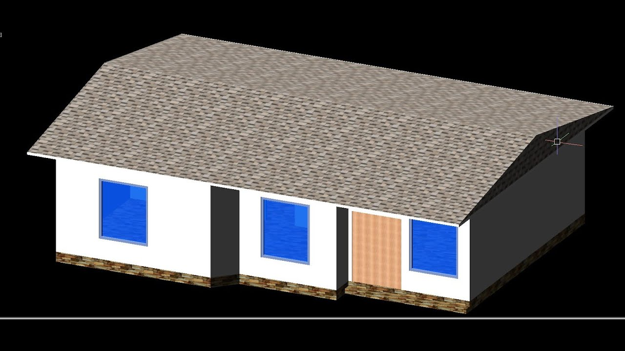 AutoCAD House Plan 2d and 3d Tutorial Beginner - YouTube