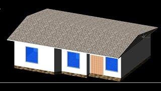 AutoCAD House Plan 2d and 3d Tutorial Beginner