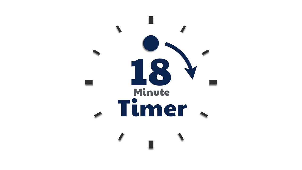 18 min countdown timer simple turning dot