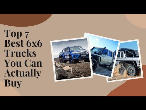 Things That You Don't Know | Top 7 Best 6x6 Trucks You Can Actually Buy #shorts