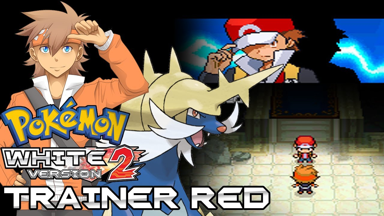 Pokemon White 2 Hack Vs Trainer Red Youtube