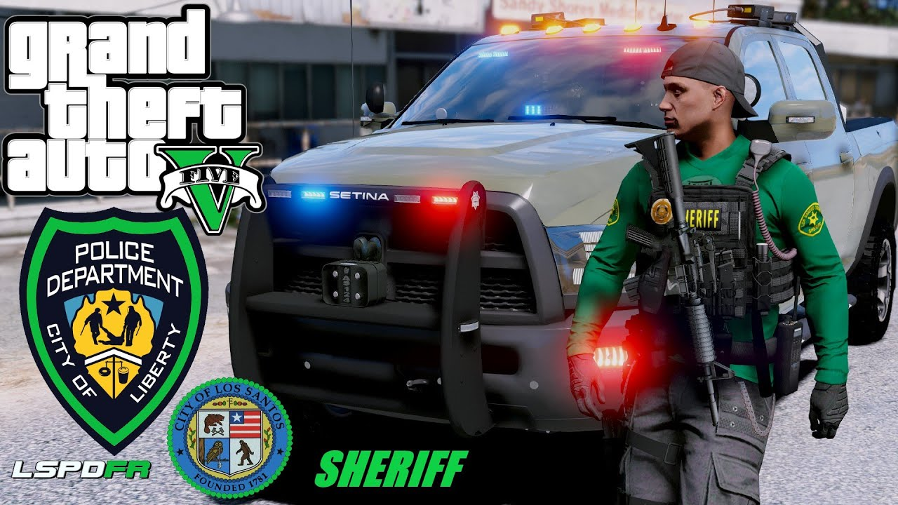 NEW Sheriff in town Drugs, Guns and Robberies of Sandy shore Police Patrol GTA 5 LSPDFR #74