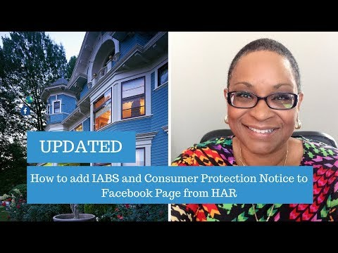 REALTORS - Adding the IABS and Consumer Protection notice to your Facebook Business Page