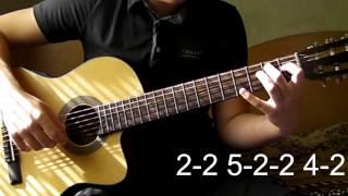В траве сидел Кузнечик - Новая Усложнённая версия (Разбор на гитаре)