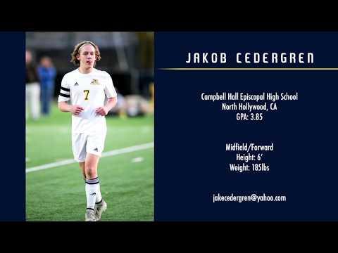 Jakob Cedergren - Class of 2019 - Junior Year College Soccer Recruiting Highlights