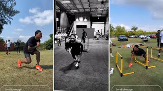Stefon Diggs AMAZING WR DRILLS Workout, Stopping On A Dime MUST WATCH!