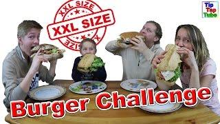 XXL SIZE BURGER CHALLENGE 🥙 Fette Sandwiches zum Abgewöhnen 🤮 Krass TipTapTube