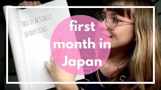 My first month at Japanese language school