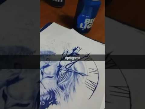 Blue pen art