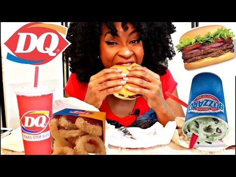 MUKBANG: DAIRY QUEEN! 10 FUN FACTS ABOUT ME! YUMMYBITESTV