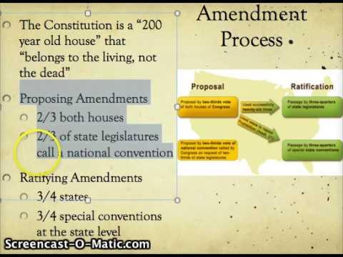 Amendment Process Youtube