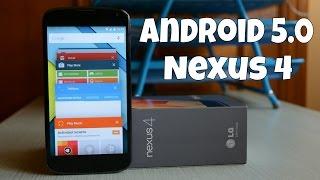 Android 5.0 Lollipop Final Preview Nexus 4