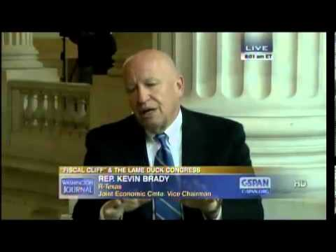 Rep. Kevin Brady on CSPAN Washington Journal Talking About Tax Reform