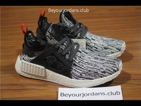 Adidas NMD XR1 PK Black Red On feet Video at Exclucity