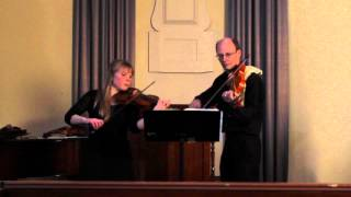 Gaia Duo: Telemann - Sonate in G-Dur for 2, Violins Vivace e Staccato