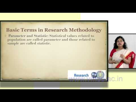 BASIC TERMS IN RESEARCH METHODOLOGY | Dr. Shuchi Singhal
