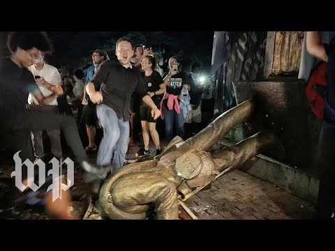 Confederate statue Silent Sam toppled by protesters