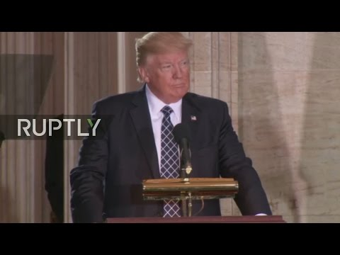 LIVE: Donald Trump gives address on annual commemoration of the Holocaust