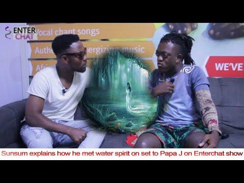 Sunsum explains how he met water spirit on set to Papa J on Enterchat show