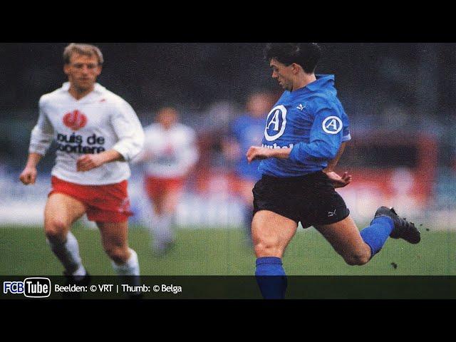 1988-1989 - Jupiler Pro League - 21. Club Brugge - KV Kortrijk 1-1