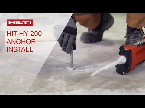 COMPARISON of the Hilti HIT- HY 200 speed of installation compared to competitive methods