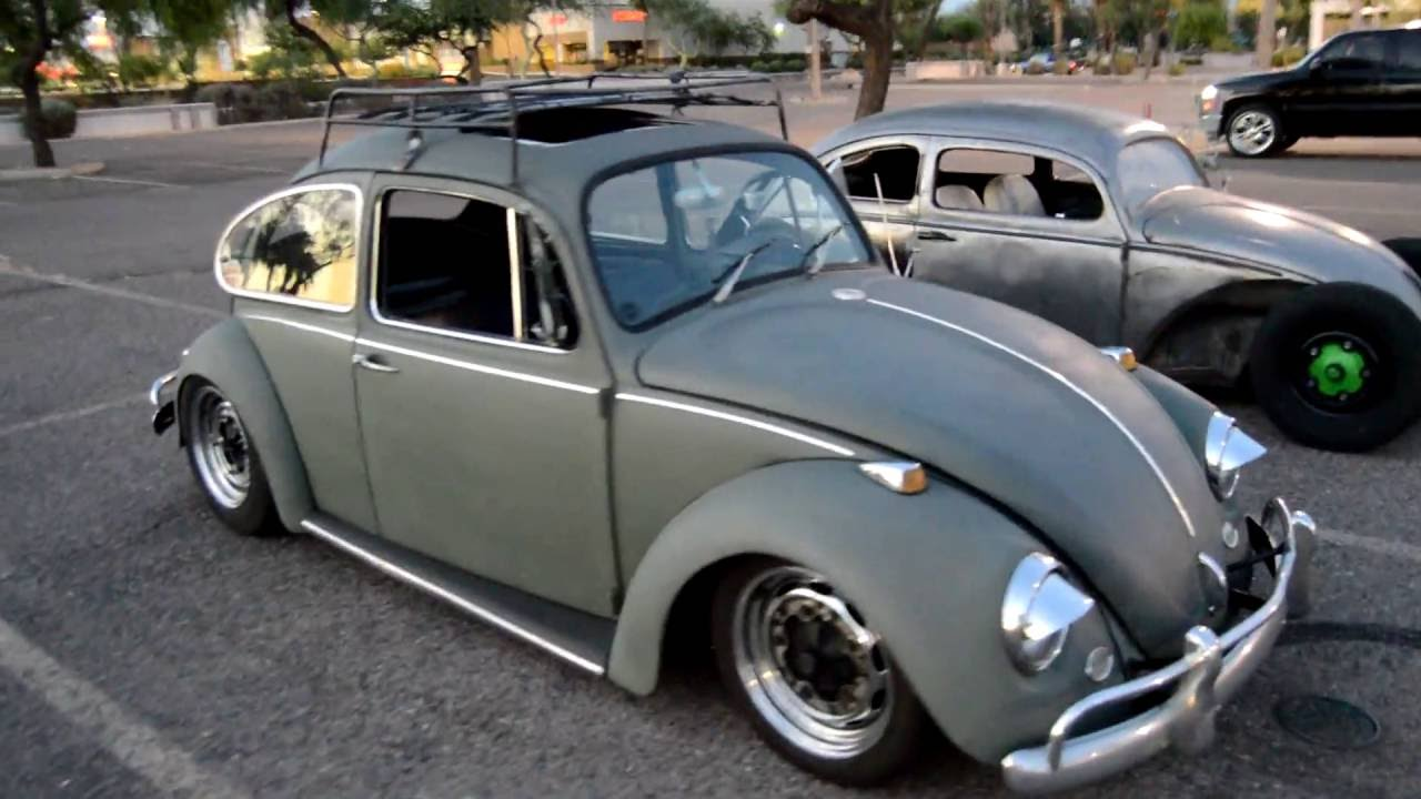 Volkswagen Bug Rat Rods low and custom - YouTube