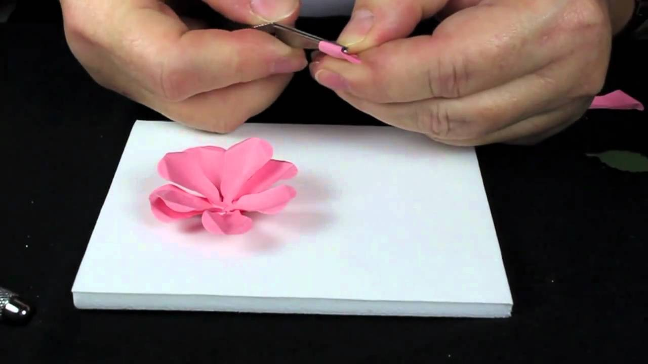 How To Make A Paper Rose From Punches Stamping Fools Youtube