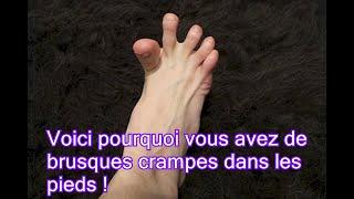 Voici pourquoi vous avez de brusques crampes dans les pieds