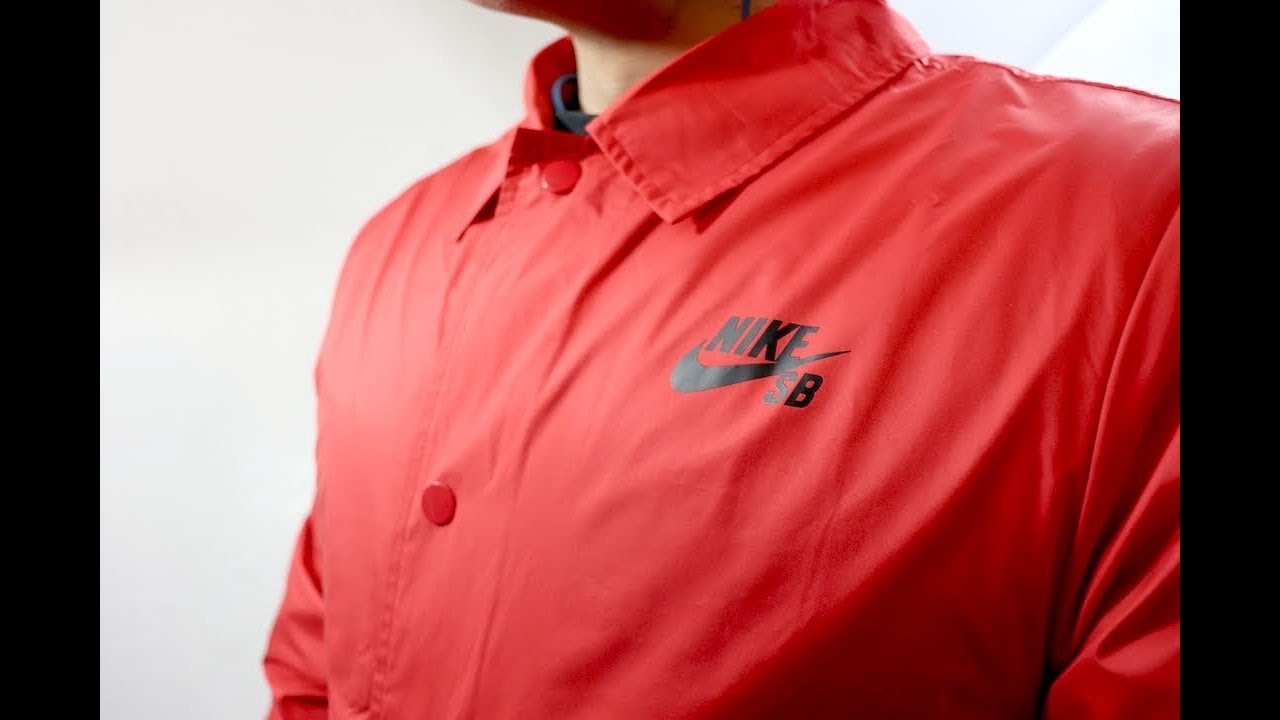 7a5bd9224520 Nike SB Shield Coach Jacket (RED) Unboxing - YouTube