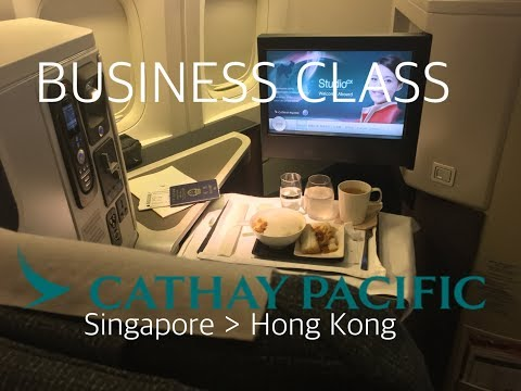 #14 Cathay Pacific | Business Class | CX710 | SINGAPORE-HONG KONG | Flight Review