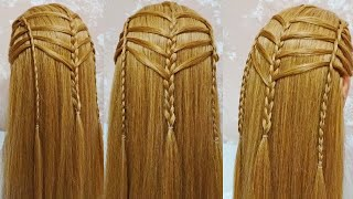 Красивая женская прическа из косичек Beautiful women s hairstyle from braids