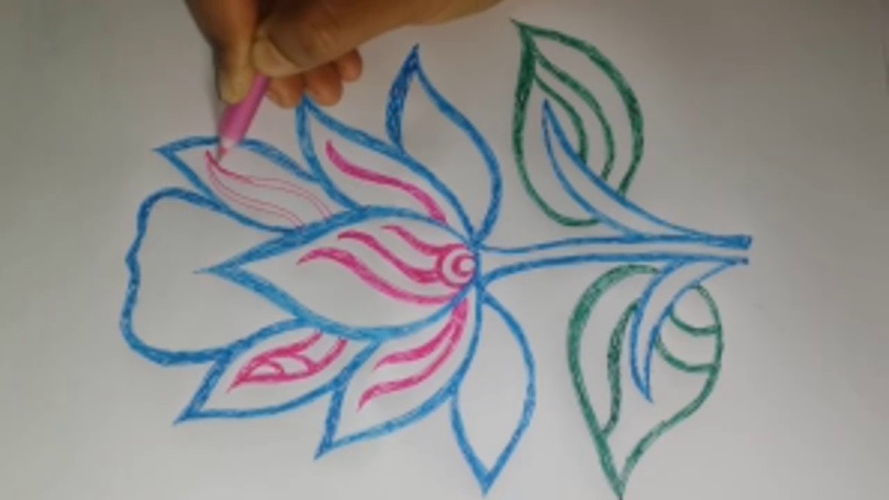 Drawing flowers how to draw a flower draw a flower for How do i draw a flower