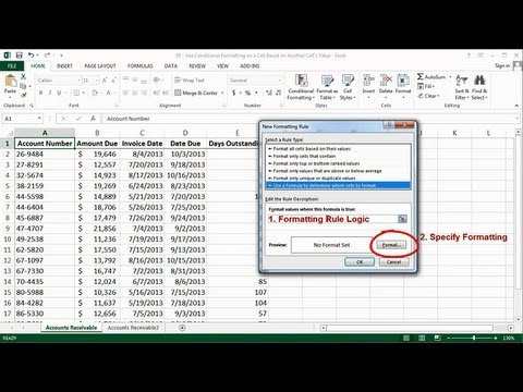 Excel - Use Conditional Formatting On A Cell Based On Another Cell's Value