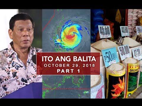 UNTV: Ito Ang Balita (October 29, 2018) PART 1