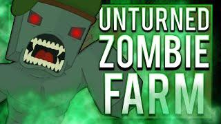 Unturned - EASY Loot & EXP Grinder! - Zombie Farm Method!