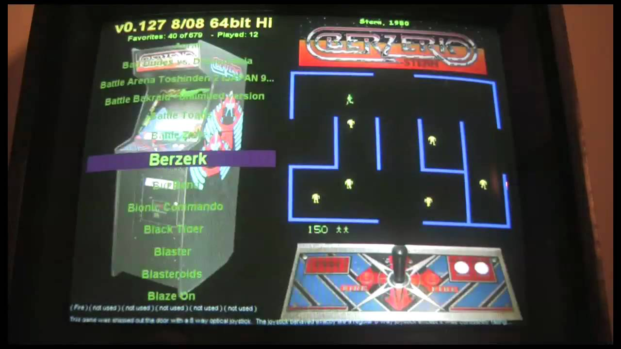 64-bit MAME Arcade Cabinet with 4 Player Control Panel (watch in HD!)