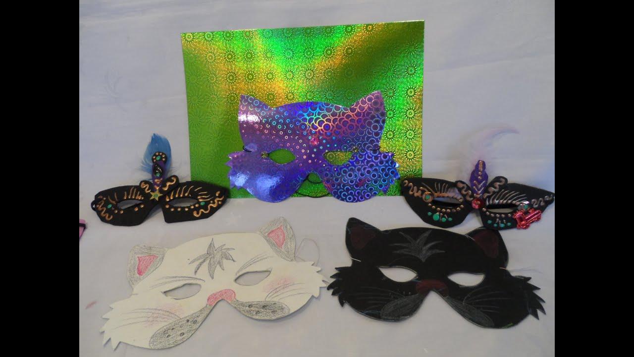 diy 3 katzen masken basteln leicht gemacht grundmuster 1 anleitung youtube. Black Bedroom Furniture Sets. Home Design Ideas
